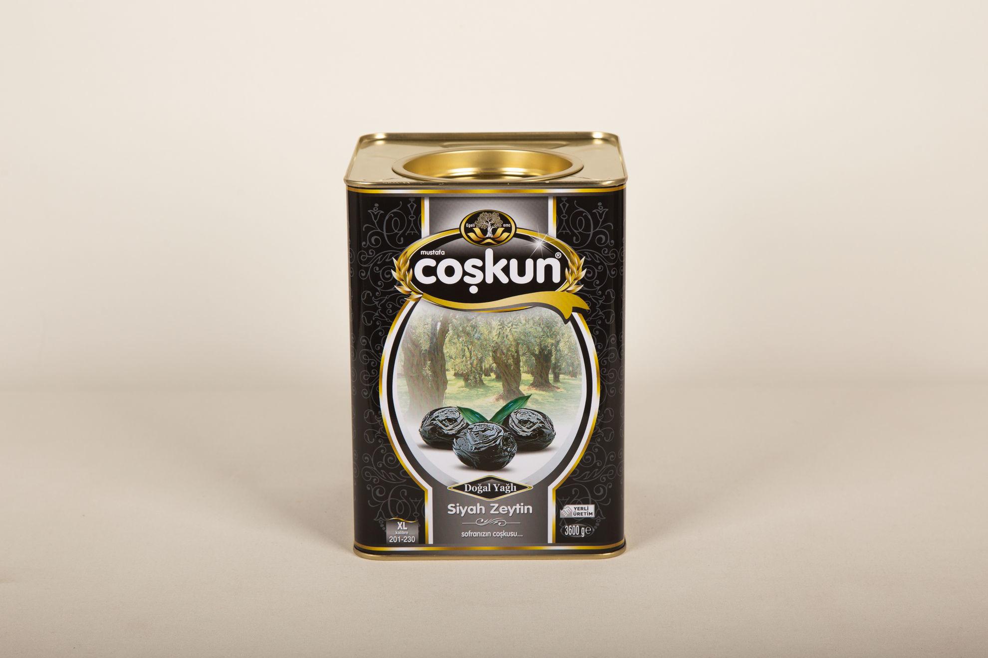 Siyah Zeytin Yağlı Sele 3.6 kg Teneke 201-230 Yağlı Sele XL resmi